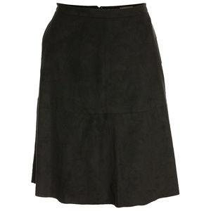 Vince Camuto 14 Black Faux Suede A-Line Skirt